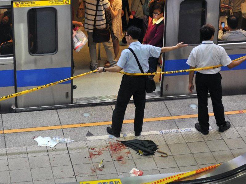 中学生が電車に飛び込み自殺した現場