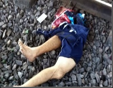 電車に激突してもげた脚