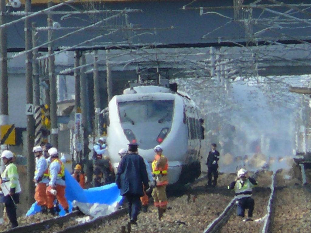 電車に飛び込み自殺して死んだ時の画像